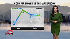 Colder air moves in this afternoon