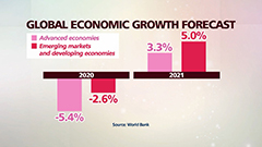 World Bank forecasts global economy to grow 4% in 2021, but only 1.6% in downside scenario