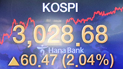 KOSPI reaches record-high close of 3,031.68 on Thursday