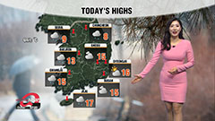 Cloudy skies with rain in inland regions but dusty skies with mild highs