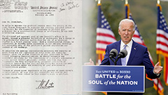 Letter released showing U.S. President-elect Biden supported S. Korea's democratization in 1980s