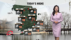 Light rain nationwide from late afternoon, milder afternoon highs