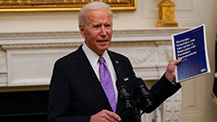 U.S. President Joe Biden signs 10 executive orders to tackle COVID-19 pandemic
