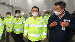 S. Korean PM inspects cryogenic storage for COVID-19 vaccines