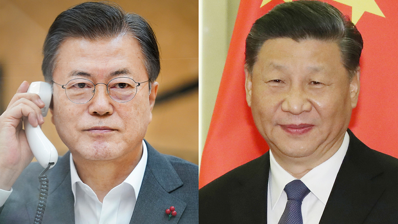 Chinese President expresses support for S. Korea's efforts to denuclearize Korean Peninsula