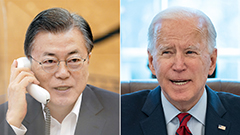 Moon, Biden agree to cooperate on N. Korea issue