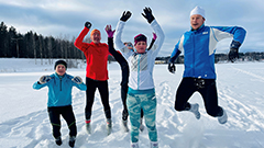 Finns run through freezing snow wearing only 'socks'