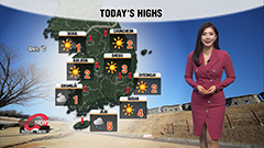 Harsh winter day across country, warmth returns tomorrow