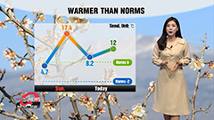 Warmer than norms under sunny