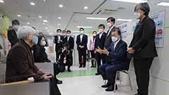 President Moon visits local he