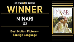 'Minari' wins best foreign language film at Golden Globes