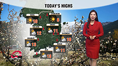 Fresh sunny early spring weather across country