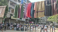 Clotheslines: Unusual way of how Myanmar protestors protect themselves against the military