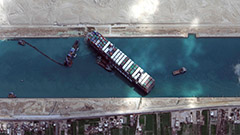 Egypt losing US$ 12-14 mil. in revenue daily from Suez Canal blockage