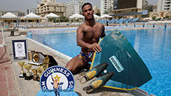Jumping over two-metres out of the water, Egyptian breaks Guinness World Record