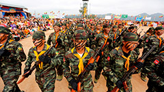 Hundreds killed by Myanmar military over past two days … while generals celebrate gala