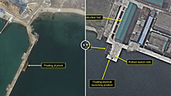 N. Korea possibly making modifications to submersible missile test barge: 38 North