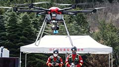 Drone search troops in action,