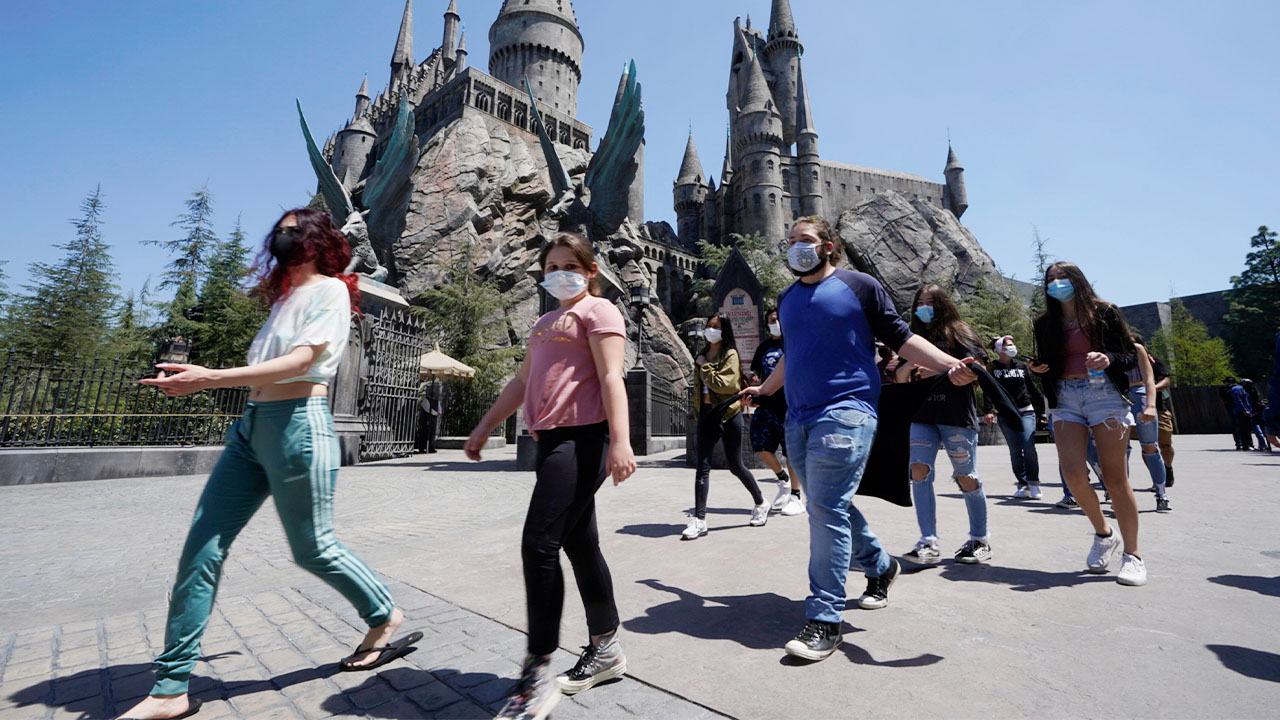 Universal Studios Hollywood reopens after more than a year