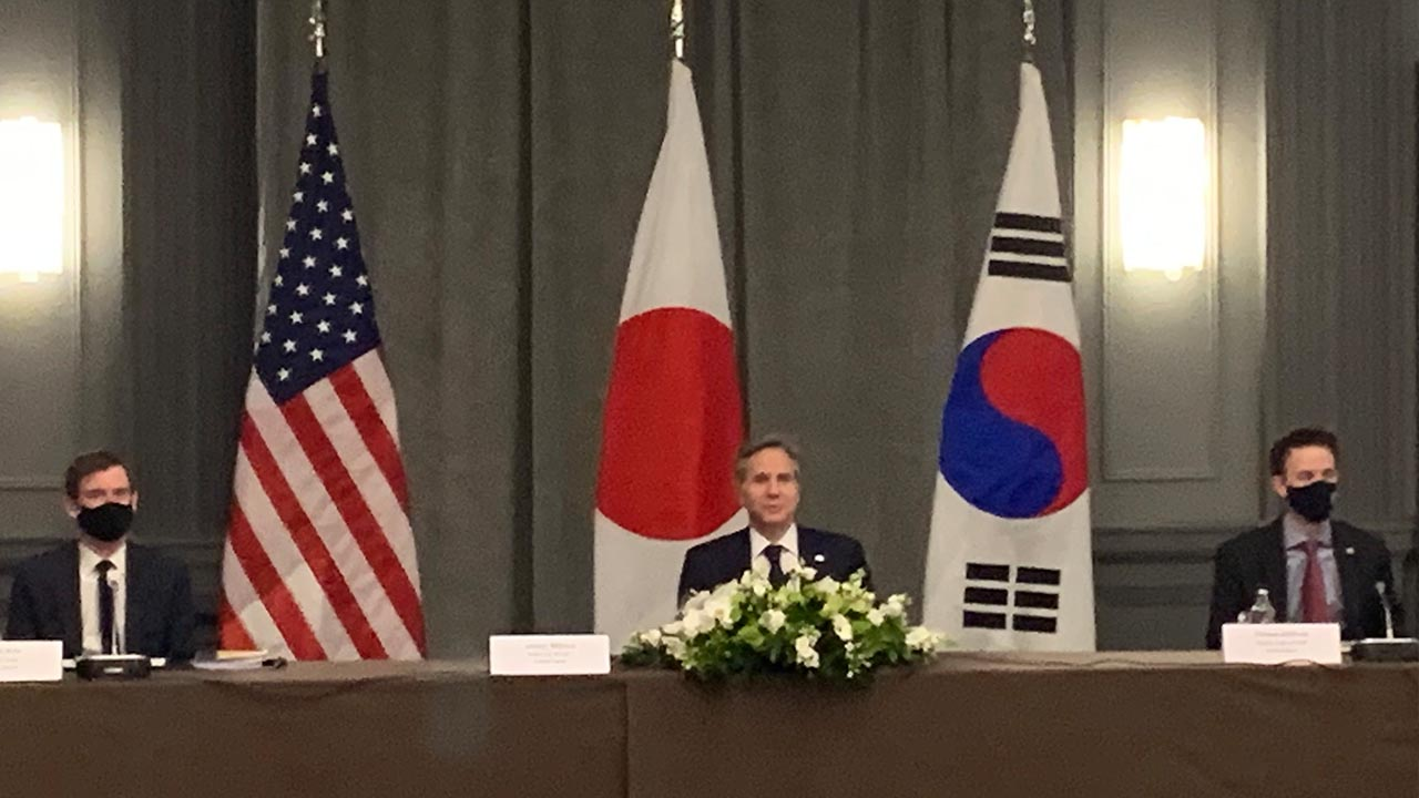 S. Korea, U.S., Japan FMs meet in London on sidelines of G7