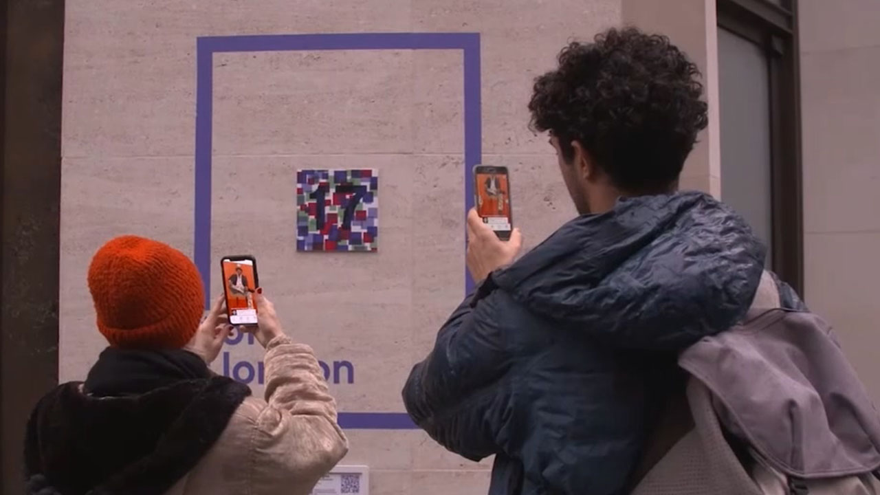 London presents masterpieces on streets through lens of augmented reality