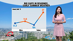 Early summer weather in upper regions, rain with strong gusts on Jeju