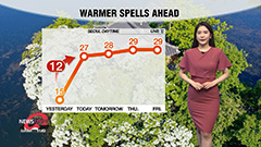 Warmer conditions tomorrow for central regions...clean air nationwide