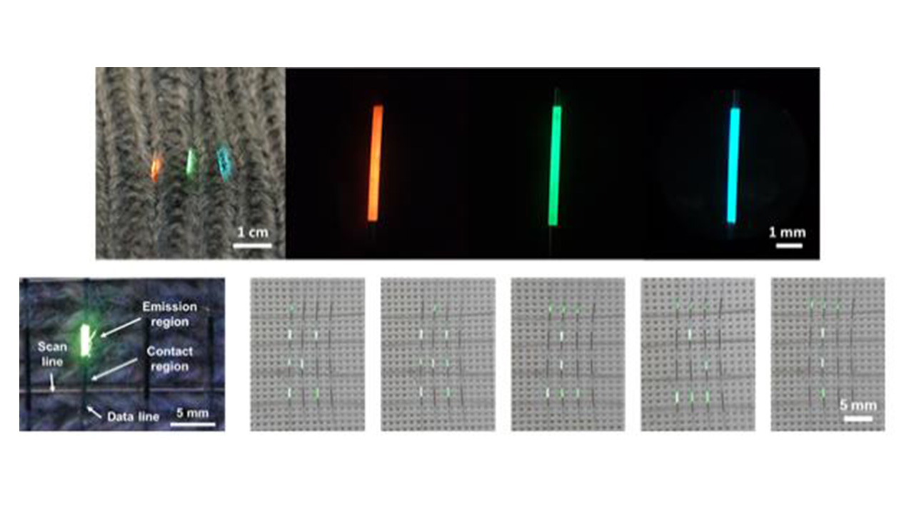 KAIST develops wearable textile that can display digital images