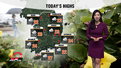 Cloudy and wet day for most regions, cooler highs