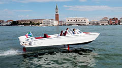 New high-tech electric boat th