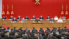 Kim Jong-un presides over party meeting to discuss current int'l situation, possibly including message for U.S.