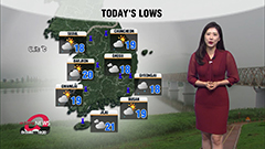 Rainy morning with cool temperatures in central regions