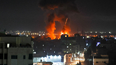 Israeli air raids target Gaza for second time since ceasefire in response to Hamas incendiary balloons