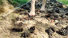 Barefoot trail with variety of surfaces opens in Russia
