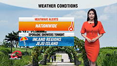 Scattered showers for inland r