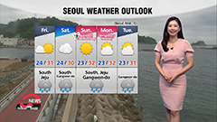 Downpours on Jeju and south coast, heat lingers during day