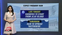 On-and-off showers tonight for most regions... nationwide rain this weekend