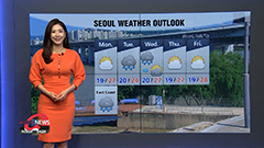 Mostly sunny in central areas, rain down south