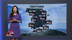 Mostly blue skies in west with warmer highs