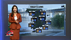 Big gaps between lows and highs, rain for east coast