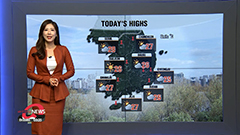 Wide gaps in readings, fine autumn day with rain in east coast