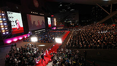 Directors and movie lovers enjoying talks and films at Busan Int'l Film Festival