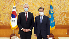 Moon meets with CIA chief, cal