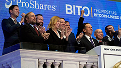 Bitcoin launches on the NYSE; first day of trading nearing its record high