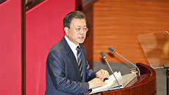 President Moon's final budget speech focuses on economic recovery, getting back to normal