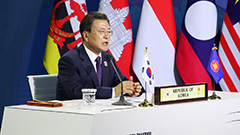 President Moon pledges financial support for ASEAN to speed up vaccine distribution, economic recovery