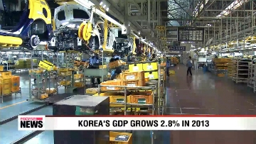 Korea's GDP grows 2.8% in 2013