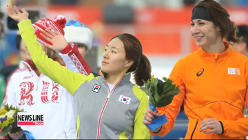 Korean speed skater Lee Sang-hwa wins Korea's first gold at Sochi Olympics
