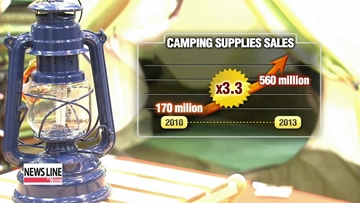 Camping rises among people seeking stress relief in Korea