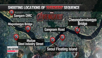 "'Avengers: Age of Ultron"" to film at Seoul landmarks"